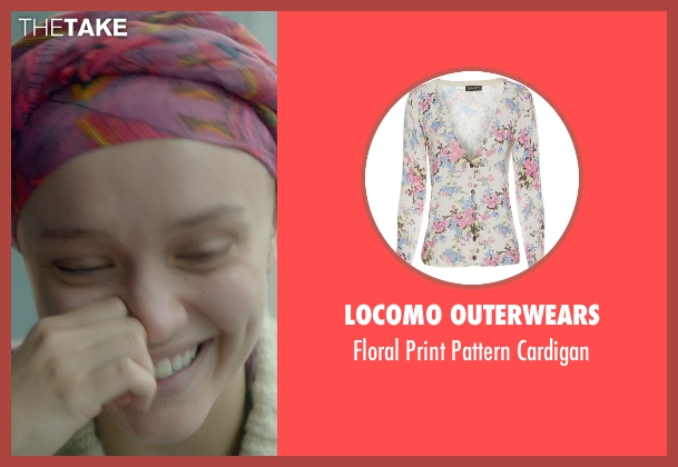 Locomo Outerwears white cardigan from Me and Earl and the Dying Girl seen with Olivia Cooke (Rachel)