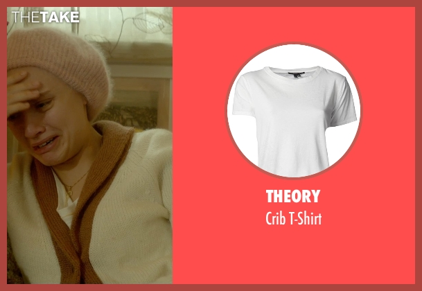 Theory white t-shirt from Me and Earl and the Dying Girl seen with Olivia Cooke (Rachel)