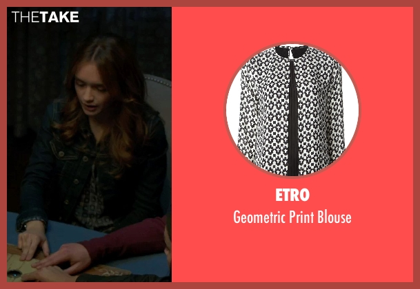 Etro black blouse from Ouija seen with Olivia Cooke (Elaine Morris)