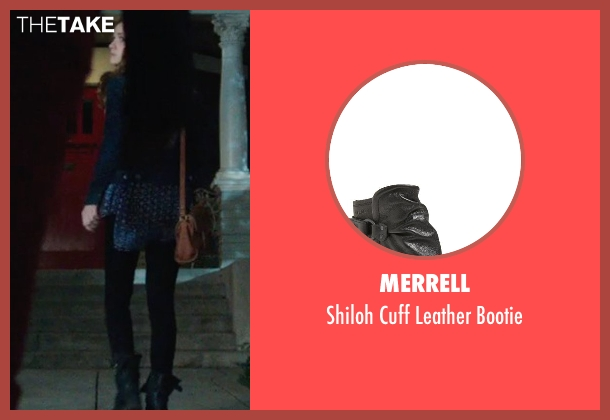 Merrell black bootie from Ouija seen with Olivia Cooke (Elaine Morris)