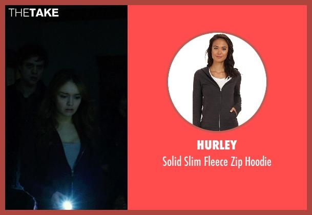 Hurley black hoodie from Ouija seen with Olivia Cooke (Elaine Morris)