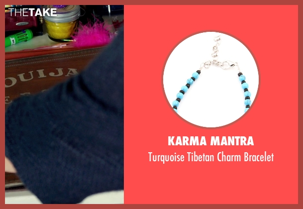 Karma Mantra blue bracelet from Ouija seen with Olivia Cooke (Elaine Morris)