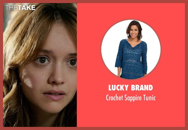 Lucky Brand blue tunic from Ouija seen with Olivia Cooke (Elaine Morris)