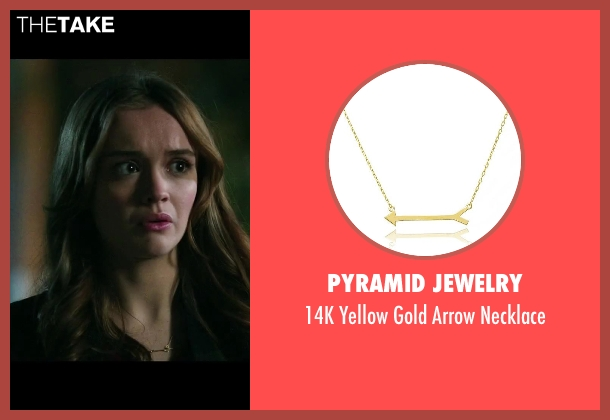 Pyramid Jewelry gold necklace from Ouija seen with Olivia Cooke (Elaine Morris)