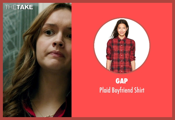 GAP red shirt from Ouija seen with Olivia Cooke (Elaine Morris)