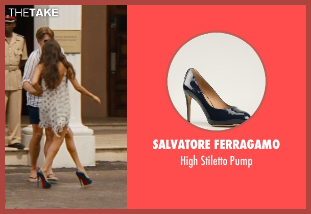 Salvatore Ferragamo blue pump from The Other Woman seen with Olivia Culpo (Raven-Haired Beauty)