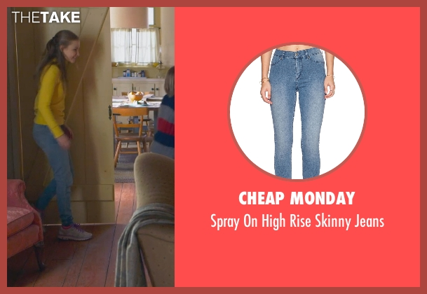Cheap Monday blue jeans from The Visit seen with Olivia DeJonge (Unknown Character)