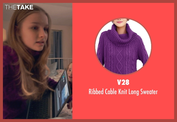 V28 purple sweater from The Visit seen with Olivia DeJonge (Unknown Character)