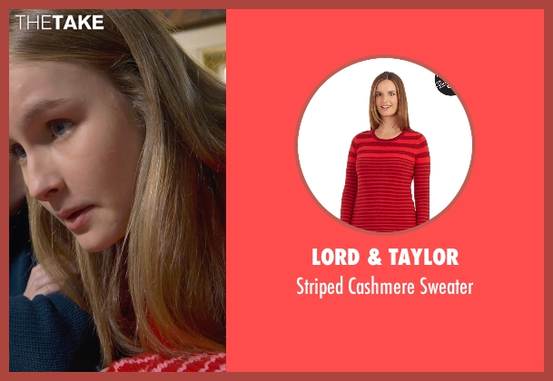Lord & Taylor red sweater from The Visit seen with Olivia DeJonge (Unknown Character)