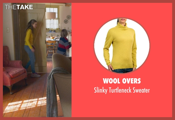 Wool Overs yellow sweater from The Visit seen with Olivia DeJonge (Unknown Character)