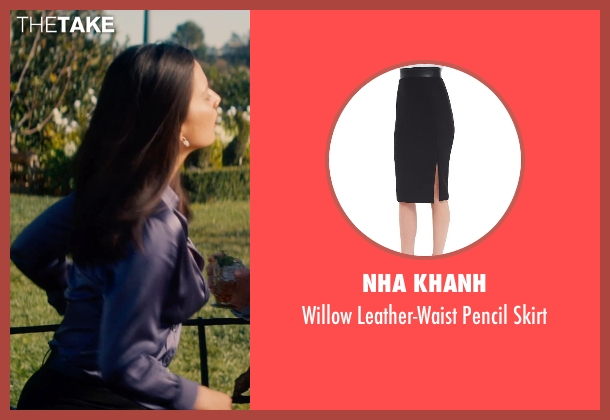 Nha Khanh black skirt from Mortdecai seen with Olivia Munn (Unknown Character)