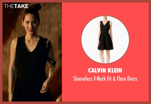 Calvin Klein black dress from Office Christmas Party seen with Olivia Munn (Tracey)