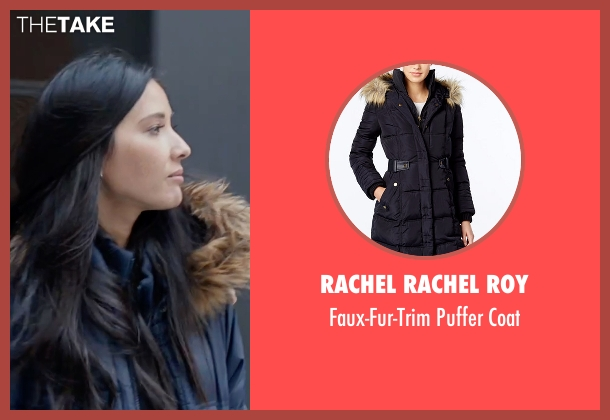 Rachel Rachel Roy blue coat from Office Christmas Party seen with Olivia Munn (Tracey)