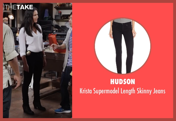 Hudson black jeans from Ride Along 2 seen with Olivia Munn (Maya Cruz)