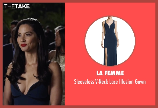 La Femme  blue gown from Ride Along 2 seen with Olivia Munn (Maya Cruz)