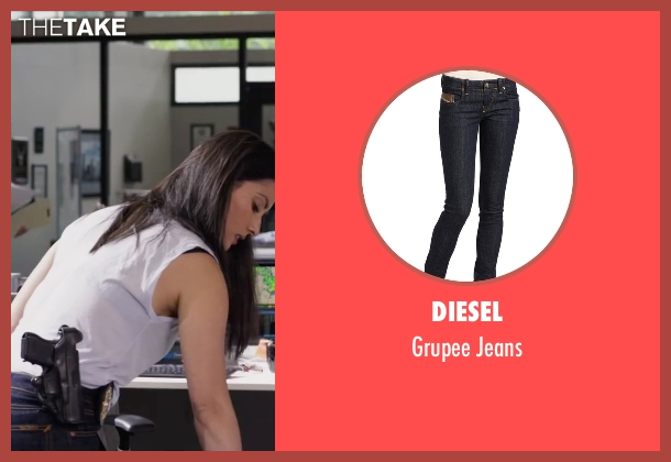 Diesel blue jeans from Ride Along 2 seen with Olivia Munn (Maya Cruz)