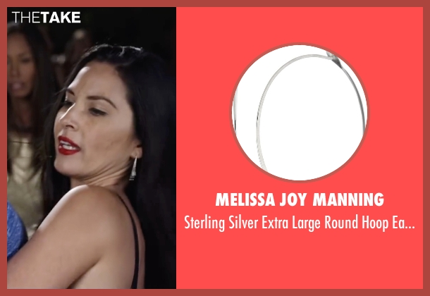 Melissa Joy Manning silver earrings from Ride Along 2 seen with Olivia Munn (Maya Cruz)