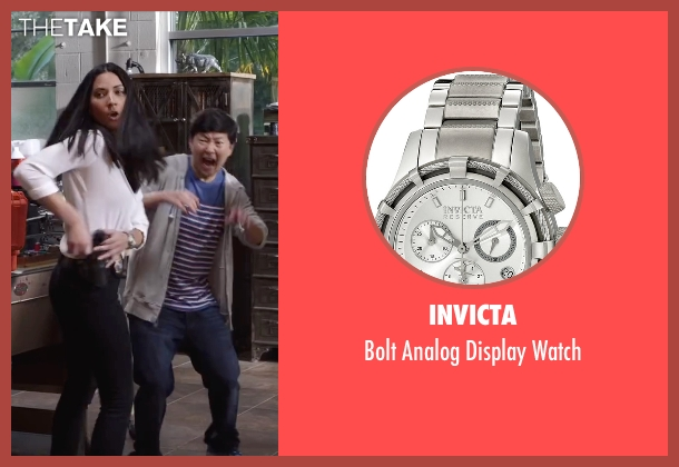 Invicta silver watch from Ride Along 2 seen with Olivia Munn (Maya Cruz)