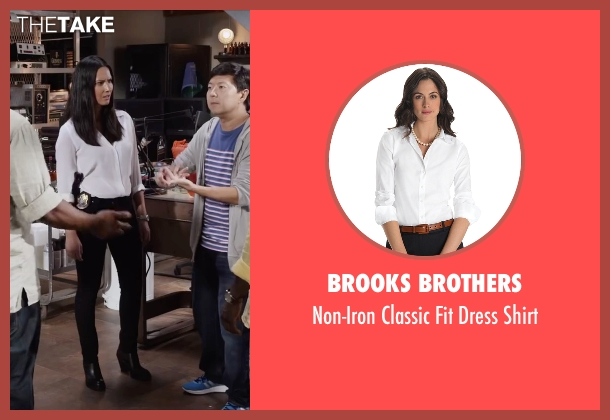 Brooks Brothers white shirt from Ride Along 2 seen with Olivia Munn (Maya Cruz)