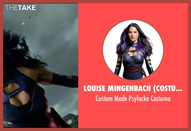 Louise Mingenbach (Costume Designer) costume from X-Men: Apocalypse seen with Olivia Munn (Betsy Braddock / Psylocke)