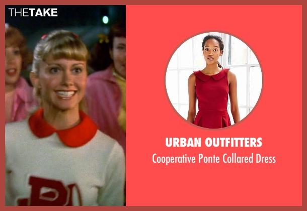 Urban Outfitters red collared dress from Grease seen with Olivia Newton-John (Sandy)