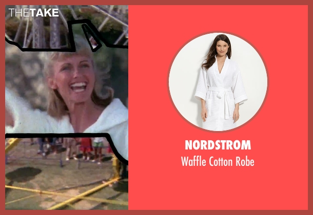 Nordstrom white robe from Grease seen with Olivia Newton-John (Sandy)