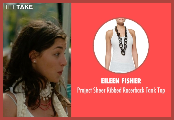 Eileen Fisher white top from No Strings Attached seen with Olivia Thirlby (Katie)