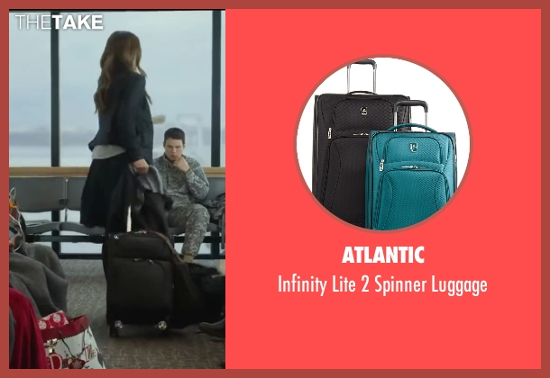 Atlantic black luggage from Love the Coopers seen with Olivia Wilde (Eleanor)