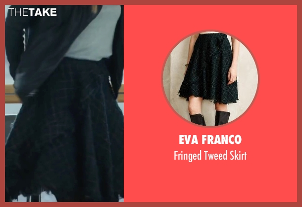 Eva Franco black skirt from Love the Coopers seen with Olivia Wilde (Eleanor)