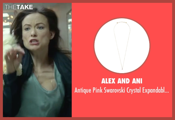 Alex and Ani gold necklace from Love the Coopers seen with Olivia Wilde (Eleanor)