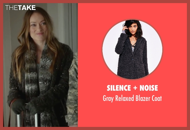 Silence + Noise gray coat from Love the Coopers seen with Olivia Wilde (Eleanor)