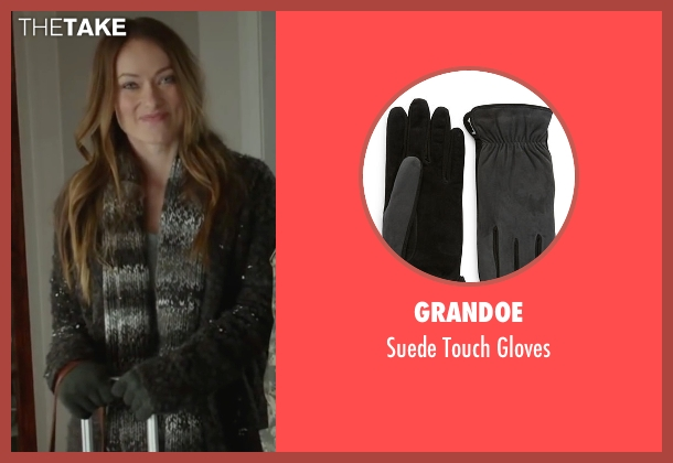 Grandoe gray gloves from Love the Coopers seen with Olivia Wilde (Eleanor)