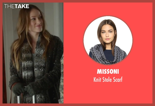 Missoni gray scarf from Love the Coopers seen with Olivia Wilde (Eleanor)