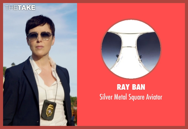 RAY BAN black aviator from Sabotage seen with Olivia Williams (Caroline)