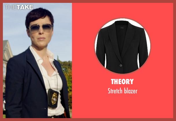 THEORY black blazer from Sabotage seen with Olivia Williams (Caroline)