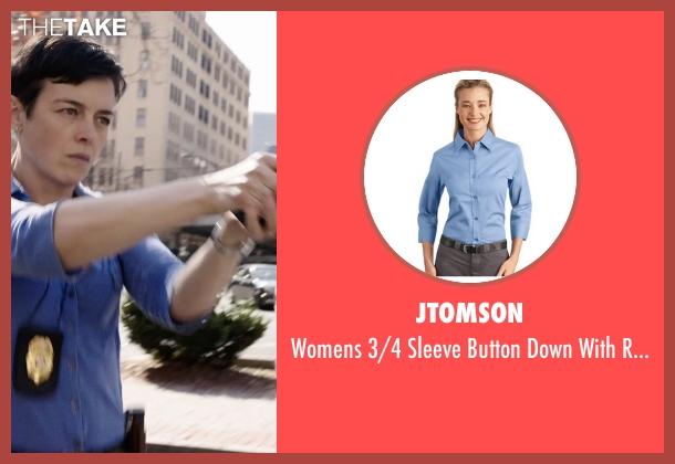 JTomson blue trim from Sabotage seen with Olivia Williams (Caroline)