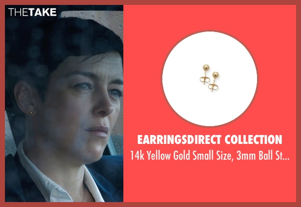 EarringsDirect Collection gold earrings from Sabotage seen with Olivia Williams (Caroline)