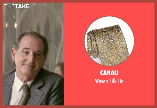 Canali brown tie from Yves Saint Laurent seen with Olivier Pajot (Charles)