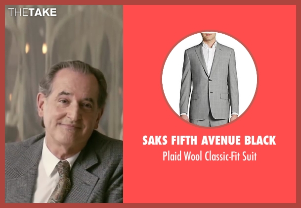 Saks Fifth Avenue BLACK gray suit from Yves Saint Laurent seen with Olivier Pajot (Charles)