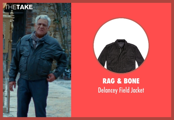 Rag & Bone black jacket from The Hundred-Foot Journey seen with Om Puri (Papa)