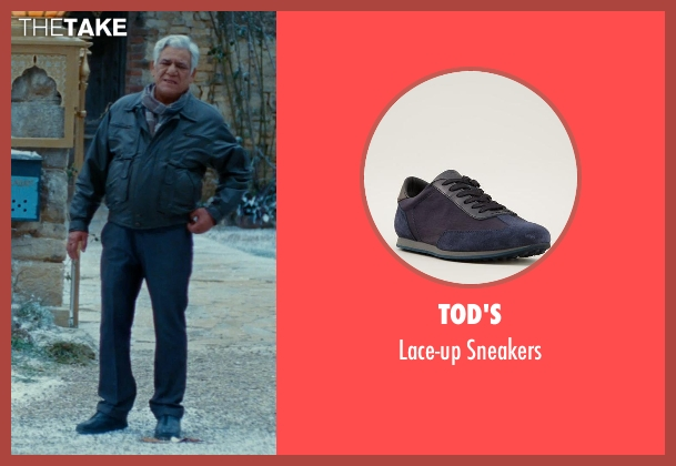 Tod's blue sneakers from The Hundred-Foot Journey seen with Om Puri (Papa)