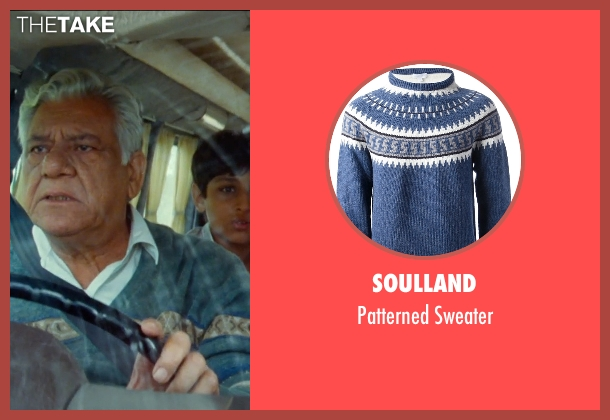 SoulLand blue sweater from The Hundred-Foot Journey seen with Om Puri (Papa)