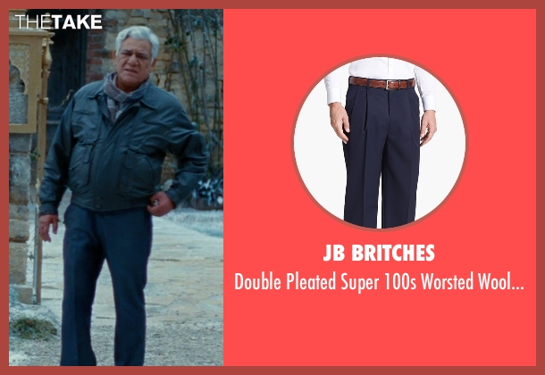 JB Britches blue trousers from The Hundred-Foot Journey seen with Om Puri (Papa)