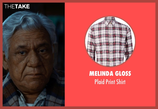 Melinda Gloss brown shirt from The Hundred-Foot Journey seen with Om Puri (Papa)