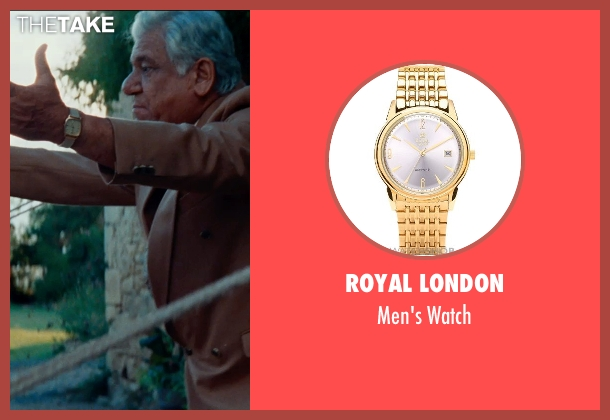 Royal London gold watch from The Hundred-Foot Journey seen with Om Puri (Papa)