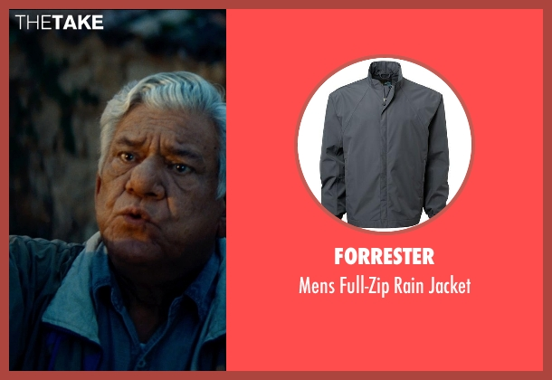 Forrester gray jacket from The Hundred-Foot Journey seen with Om Puri (Papa)