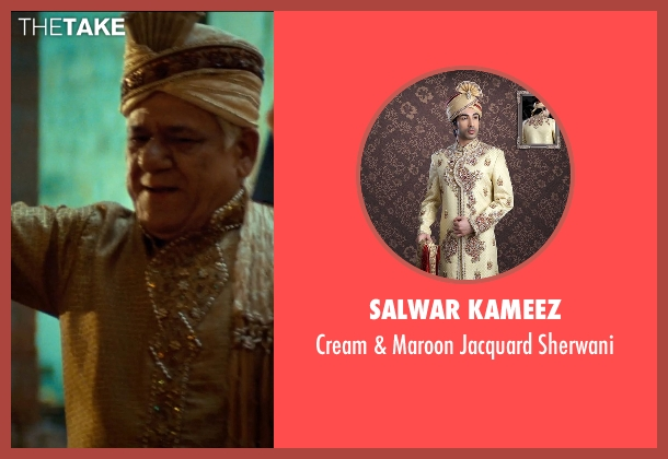 Salwar Kameez sherwani from The Hundred-Foot Journey seen with Om Puri (Papa)