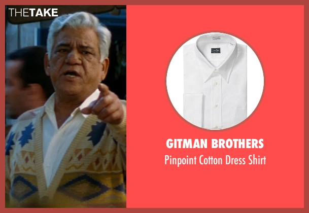 Gitman Brothers white shirt from The Hundred-Foot Journey seen with Om Puri (Papa)