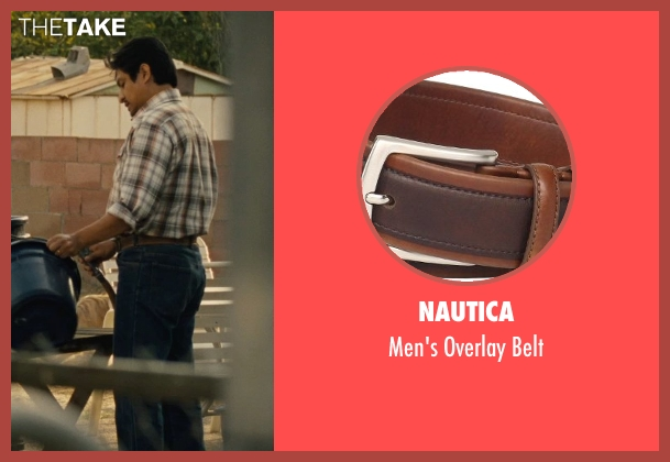 Nautica brown belt from McFarland, USA seen with Omar Leyva (Señor Diaz)