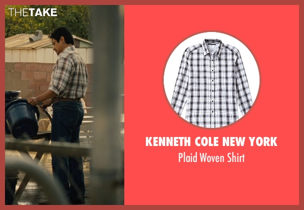Kenneth Cole New York white shirt from McFarland, USA seen with Omar Leyva (Señor Diaz)